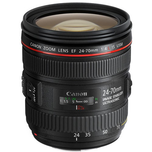 Canon EF 24-70mm F4.0 L IS USM - Topansicht
