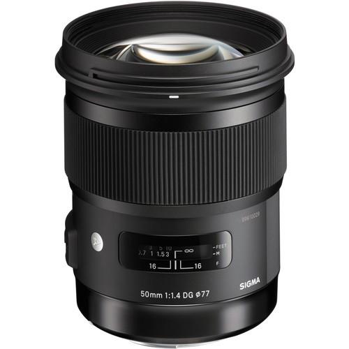Sigma 50mm f/1.4 DG HSM Art Objektiv für Canon Frontansicht