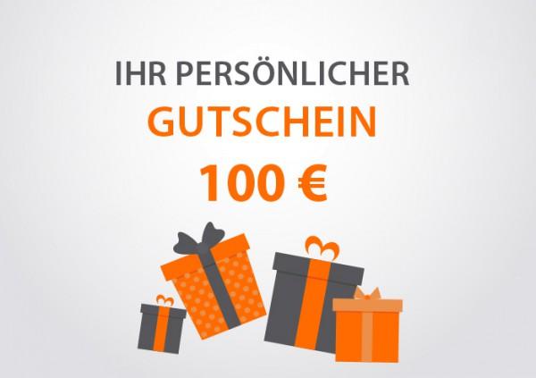 Kücher Gutschein € 100,- Frontansicht