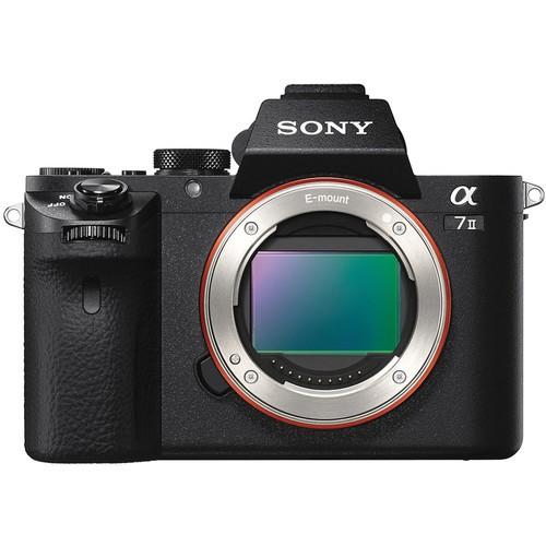 Sony Alpha 7 II Gehäuse schwarz - Frontansicht