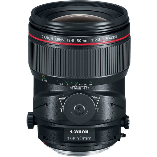 Canon TS-E 50mm f/2.8L Tilt-Shift Macro Objektiv - Frontansicht