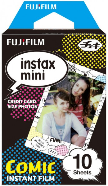 Fujifilm Instax Mini Film 10 Aufnahmen Comic - Frontansicht