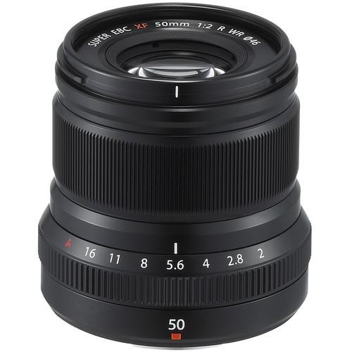 Fujifilm XF 50mm F2 R WR schwarz - Frontansicht