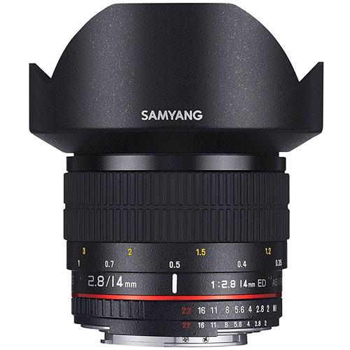 Samyang AF 14mm f/2.8 Objektiv für Canon - Frontansicht