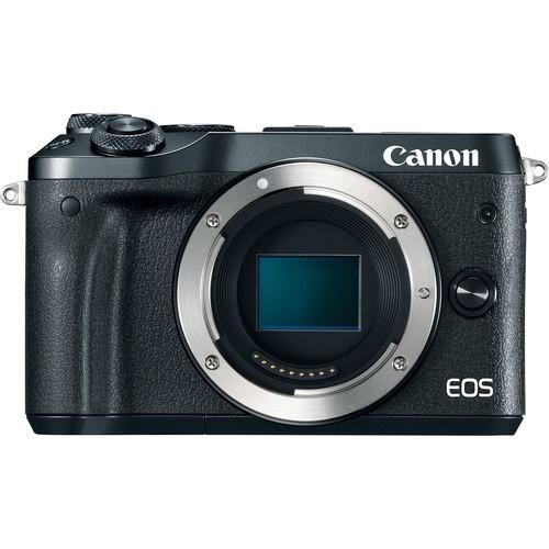 Canon EOS M6 Gehäuse schwarz - Frontansicht