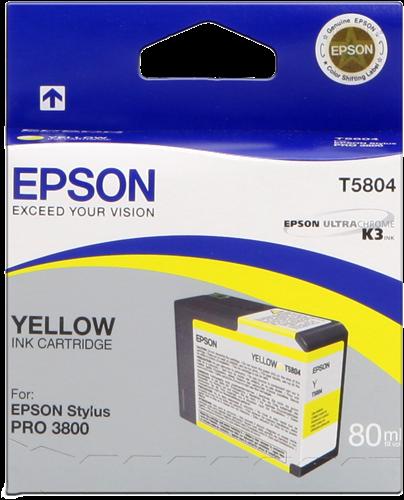 Epson T5804 Tintenpatrone gelb 80ml für ESP 3800