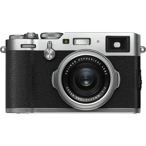 Fujifilm FinePix 100F silber - Frontansicht
