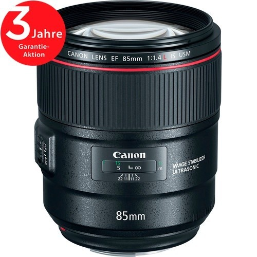 Canon EF 85mm f/1.4L IS USM Objektiv - Frontansicht
