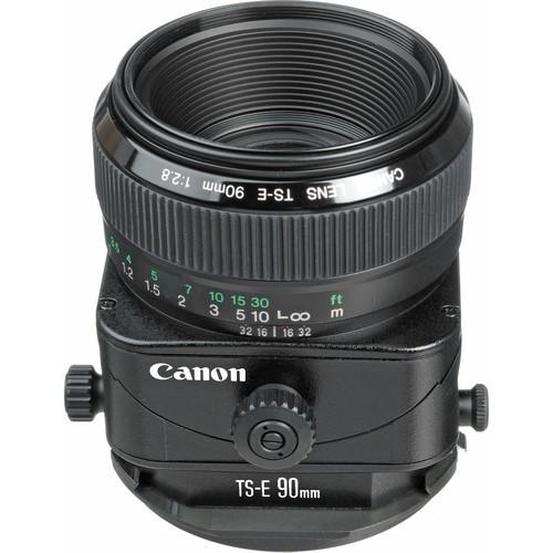 Canon TS-E 90mm f/2.8 Objektiv - Schrägansicht