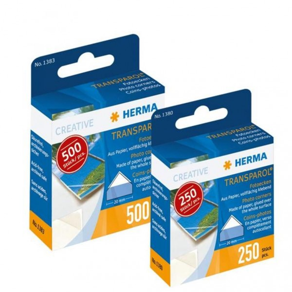 Herma 1380 Transparol Fotoecken Spendepackung 250 Stück
