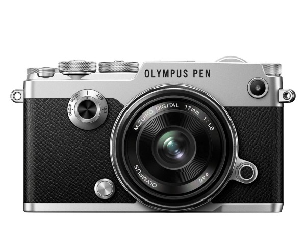 Olympus PEN-F Kit mit 17mm F1.8 Objektiv - Frontansicht