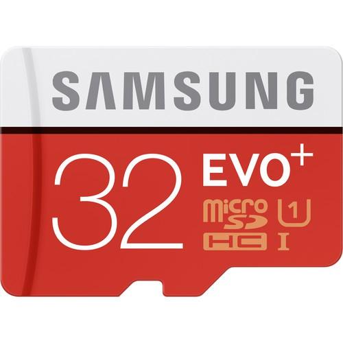 Samsung microSDHC 32GB EVO+ UHS-I Speicherkarte - Frontansicht