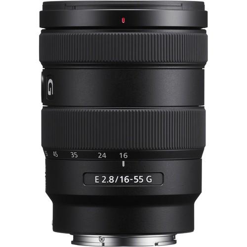 Sony E 16-55mm f/2.8 G Objektiv - Frontansicht