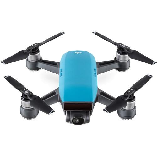 DJI Spark Quadcopter Drohne blau - Frontansicht