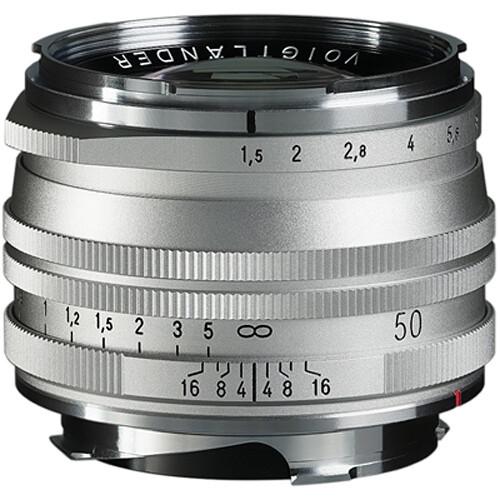 Voigtländer Nokton Asph. 50mm f/1.5 II SC Objektiv (Silber)