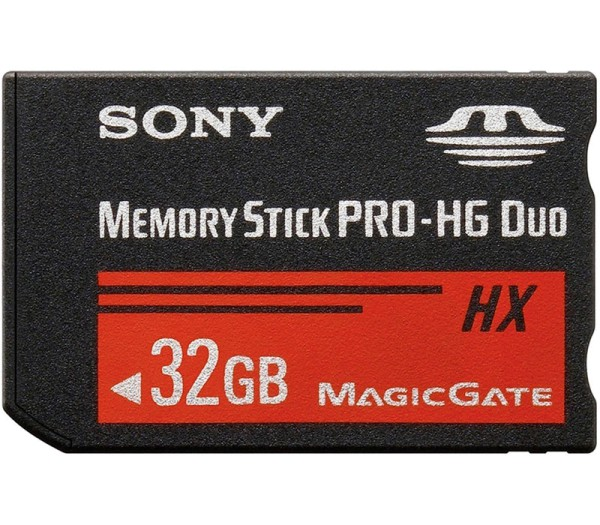 Sony 32GB Pro-HG Duo HX Speicherkarte - Frontansicht
