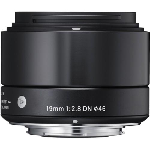Sigma 19mm f/2.8 DN Art Schwarz Objektiv für Sony E - Frontansicht