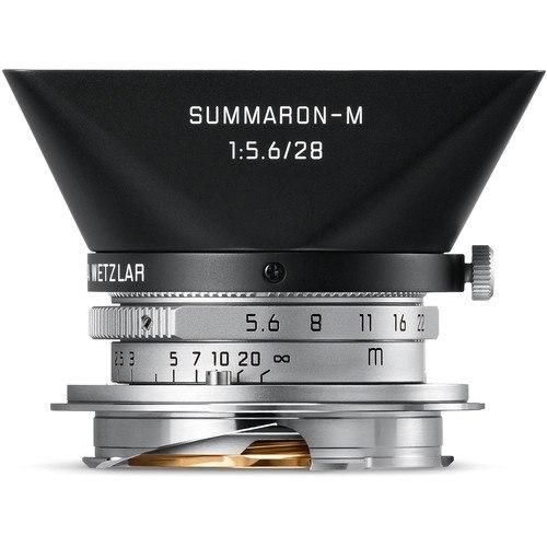 Leica Summaron-M 28mm f/5.6 Objektiv silber (11695) - Frontansicht