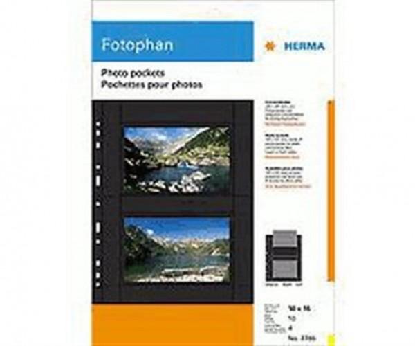 Herma 7786 Fotophan Fotosichthüllen quer 10 Hüllen schwarz