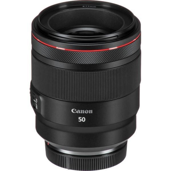 Canon RF 50mm f/1.2L USM Objektiv - Top-Frontansicht