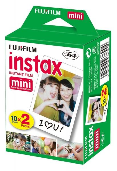 Fujifilm Instax Mini Sofortbildfilm 20 Aufnahmen Multipack - Frontansicht