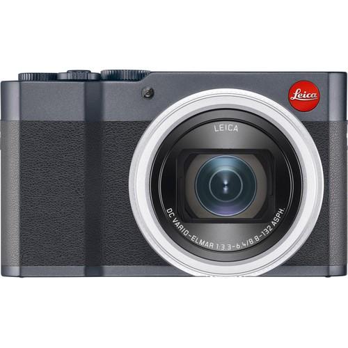 Leica C-Lux Kompaktkamera midnight blue - Frontansicht
