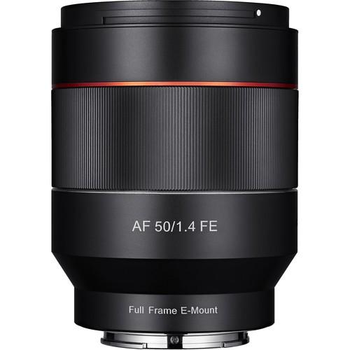Samyang AF 50mm f/1.4 Objektiv für Sony E - Frontansicht