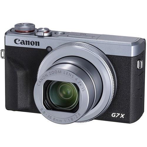 Canon PowerShot G7 X Mark III silber - Schrägansicht