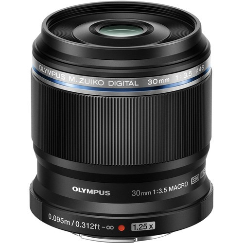 Olympus M.Zuiko 30mm F3.5 Macro MFT schwarz - Frontansicht