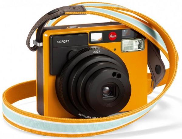 Leica Sofort Trageriemen Orange - Frontansicht