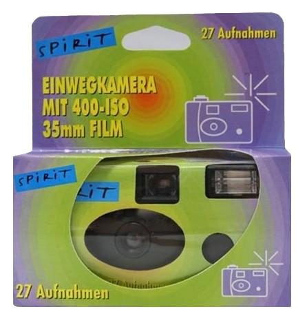 Spirit Einwegkamera mit Blitz 35mm Film 27 Aufnahmen