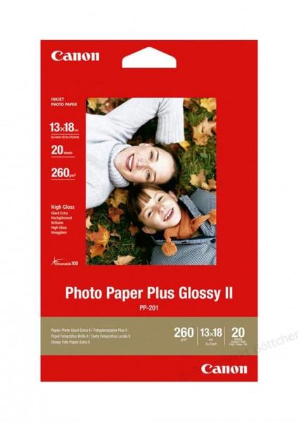 Canon PP-201 Fotopapier 13x18cm 20 Blatt glänzend (270g/qm)