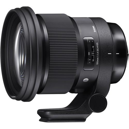 Sigma 105mm f/1.4 DG HSM Art Objektiv für Nikon - Frontansicht