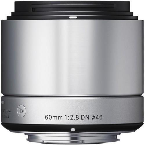 Sigma Art AF 60mm f/2.8 DN Objektiv silber für Micro-Four-Thirds