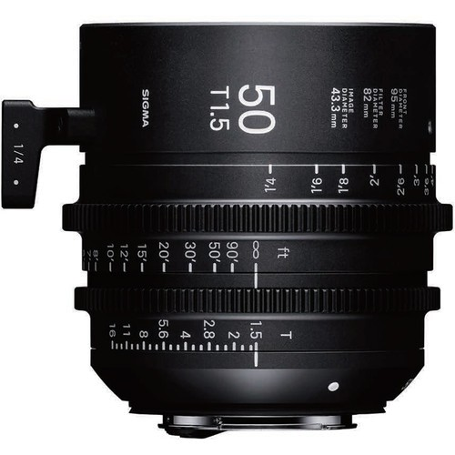 Sigma 50mm T1.5 FF High Speed Prime Cine-Objektiv - Seitenansicht