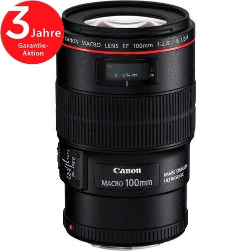 Canon EF 100mm f/2.8 L Macro IS USM Objektiv - Frontansicht