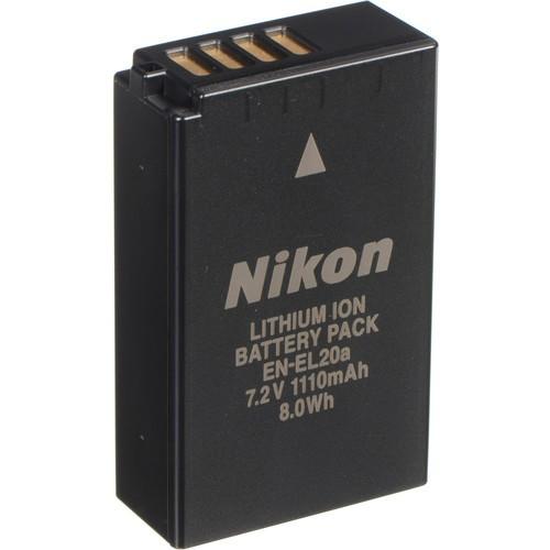Nikon EN-EL20A Lithium-Ionen Akku - Frontansicht