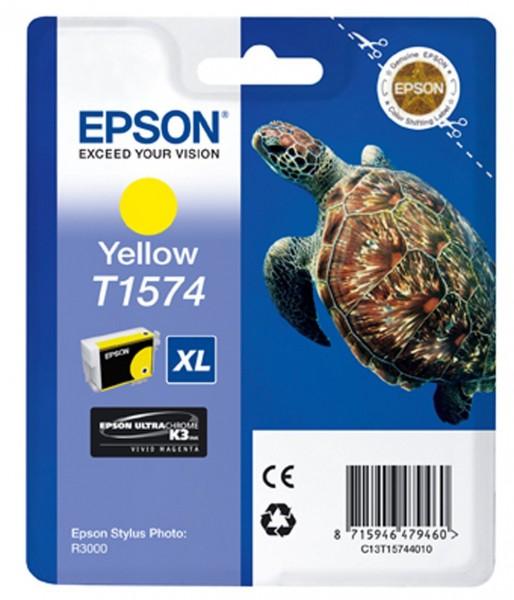 Epson T1574 Tintenpatrone gelb für R3000