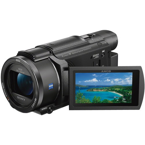 Sony FDR-AX53 Ultra-HD Camcorder - Display gedreht