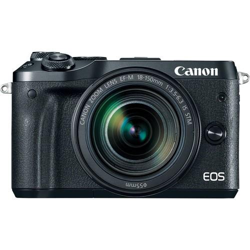Canon EOS M6 Kit mit 18-150mm Objektiv - Frontansicht