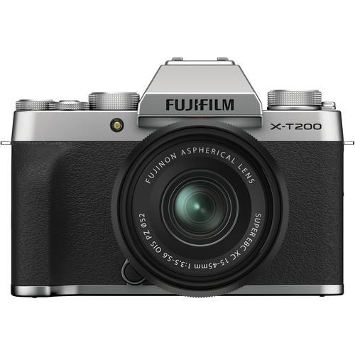 Fujifilm X-T200 Kit mit XC 15-45mm silber - Frontansicht