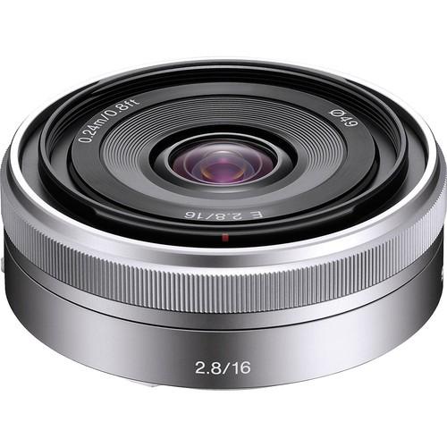 Sony E 16mm f/2.8 Ultrawide Nex Objektiv - Frontansicht