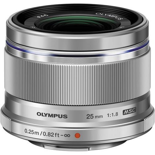 Olympus M.Zuiko Digital 25mm f/1.8 Objektiv silber
