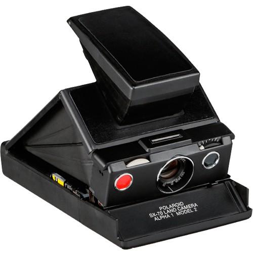 Polaroid Originals SX-70 Sofortbildkamera schwarz - Schrägansicht