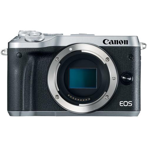 Canon EOS M6 Gehäuse silber - Frontansicht