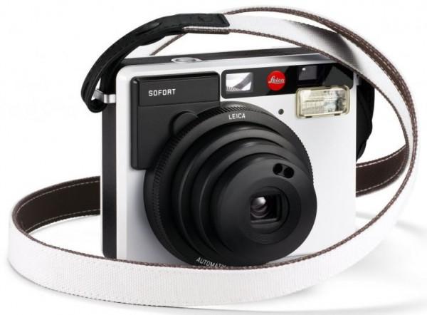 Leica Sofort Trageriemen Schwarz-Weiß - Frontansicht