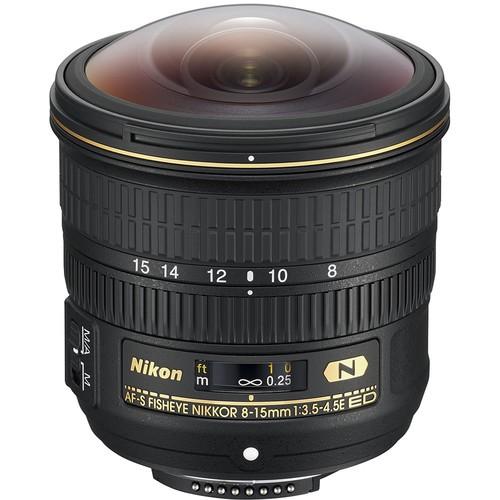 Nikon AF-S 8-15mm f/3.5-4.5 E ED Fisheye Objektiv - Frontansicht