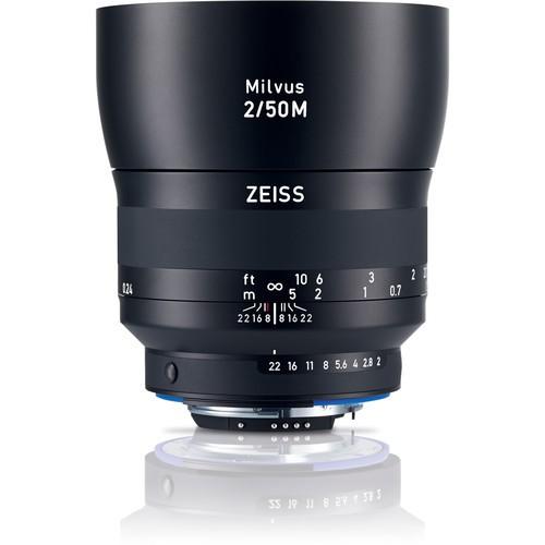 Zeiss Milvus 50mm F2 ZF.2 Objektiv für Nikon F - Frontansicht