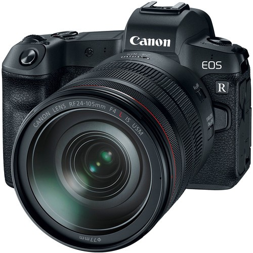 Canon EOS R Kit mit 24-105mm Objektiv inkl. EF - EOS R Adapter - Frontansicht