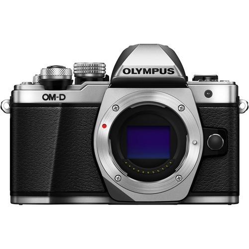 Olympus OM-D E-M10 Mark II Gehäuse silber - Frontansicht